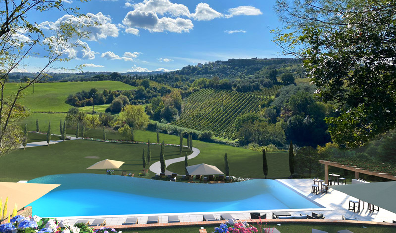 SPERETO TUSCANY Apartments & Villas - Real Estate For Sale Infinity swiming pool